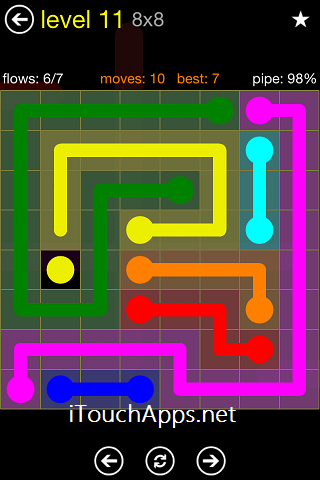 Flow Regular Pack 8 x 8 Level 11 Solution