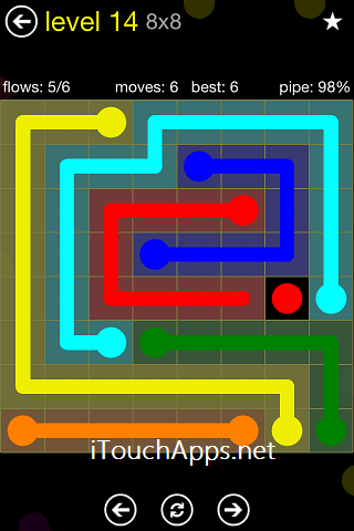 Flow Regular Pack 8 x 8 Level 14 Solution