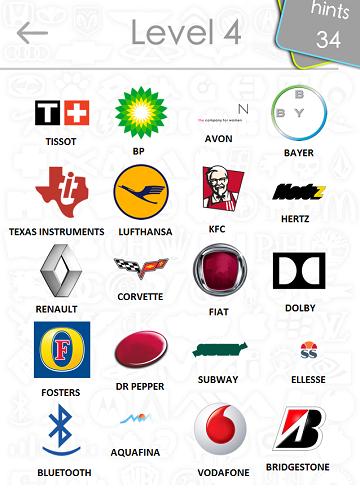 logos quiz answers: level 4 part 1