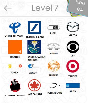 logos quiz answers: level 7 part 4