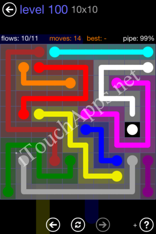 Flow Game 10x10 Mania Pack Level 100 Solution
