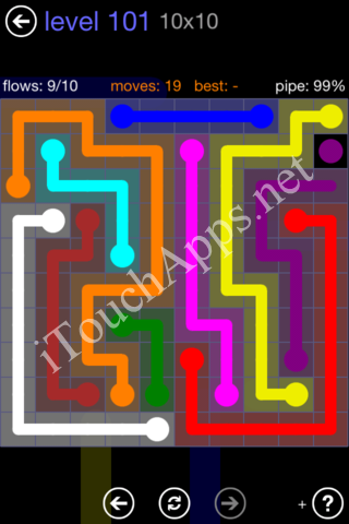 Flow Game 10x10 Mania Pack Level 101 Solution