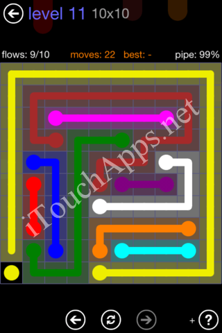 Flow Game 10x10 Mania Pack Level 11 Solution