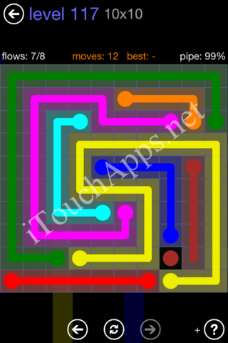 Flow Game 10x10 Mania Pack Level 117 Solution