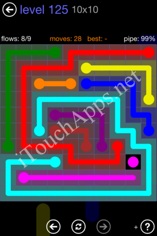 Flow Game 10x10 Mania Pack Level 125 Solution