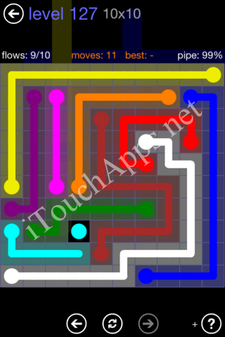 Flow Game 10x10 Mania Pack Level 127 Solution