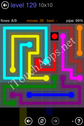 Flow Game 10x10 Mania Pack Level 129 Solution