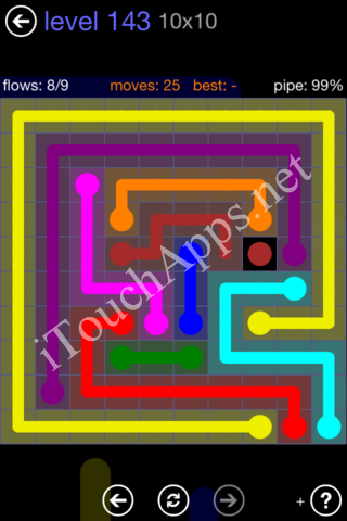 Flow Game 10x10 Mania Pack Level 143 Solution