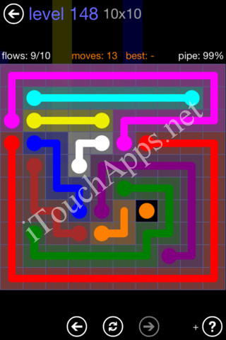 Flow Game 10x10 Mania Pack Level 148 Solution