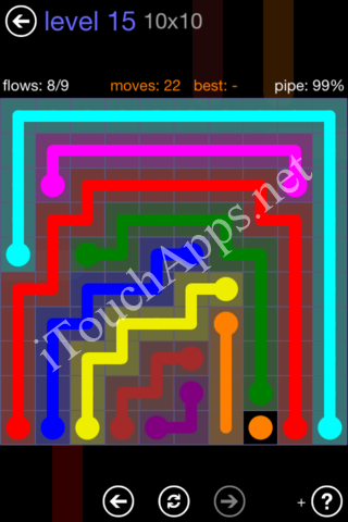 Flow Game 10x10 Mania Pack Level 15 Solution