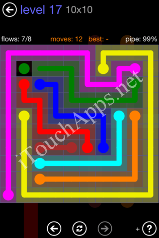 Flow Game 10x10 Mania Pack Level 17 Solution