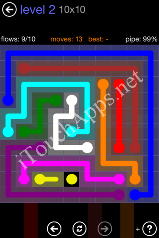 Flow Game 10x10 Mania Pack Level 2 Solution