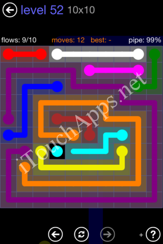 Flow Game 10x10 Mania Pack Level 52 Solution
