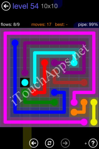 Flow Game 10x10 Mania Pack Level 54 Solution