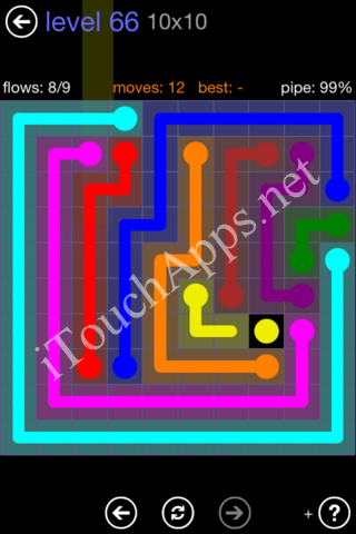 Flow Game 10x10 Mania Pack Level 66 Solution