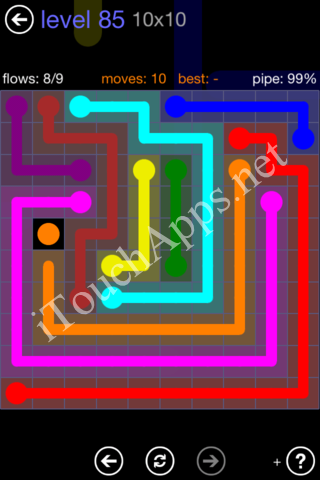Flow Game 10x10 Mania Pack Level 85 Solution