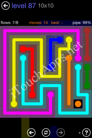Flow Game 10x10 Mania Pack Level 87 Solution