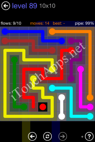 Flow Game 10x10 Mania Pack Level 89 Solution