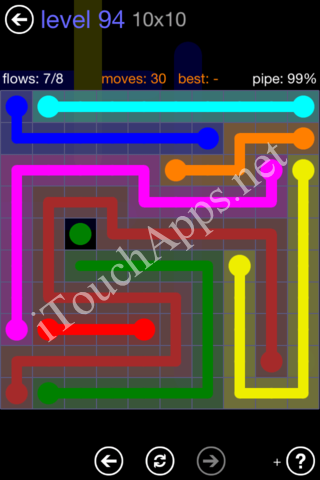 Flow Game 10x10 Mania Pack Level 94 Solution