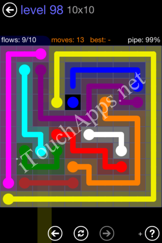 Flow Game 10x10 Mania Pack Level 98 Solution