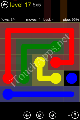 Flow Kids Pack 5 x 5 Level 17 Solution