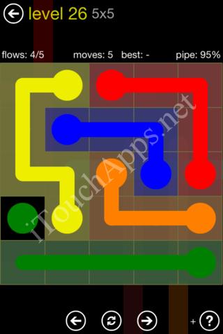 Flow Kids Pack 5 x 5 Level 26 Solution