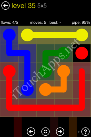 Flow Kids Pack 5 x 5 Level 35 Solution