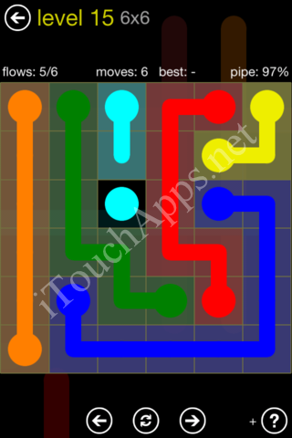 Flow Kids Pack 6 x 6 Level 15 Solution