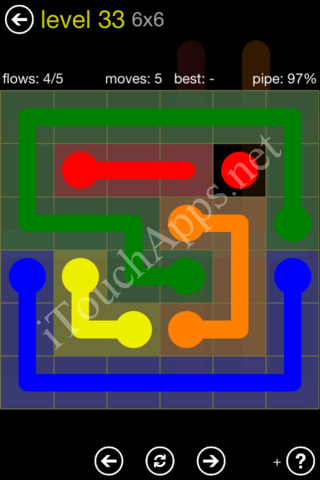 Flow Kids Pack 6 x 6 Level 33 Solution