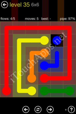 Flow Kids Pack 6 x 6 Level 35 Solution