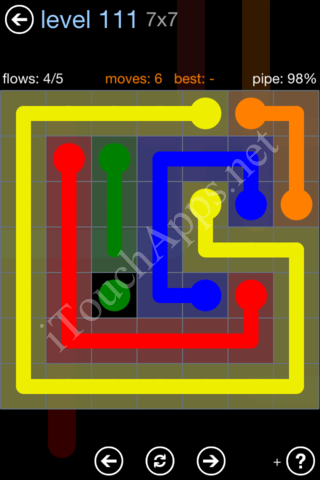 Flow Game Rainbow Pack Level 111 Solution