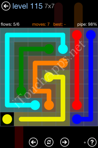 Flow Game Rainbow Pack Level 115 Solution