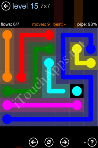 Flow Game Rainbow Pack Level 15 Solution