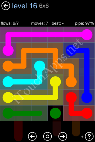 Flow Game Rainbow Pack Level 16 Solution