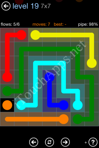 Flow Game Rainbow Pack Level 19 Solution