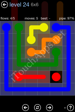 Flow Game Rainbow Pack Level 24 Solution