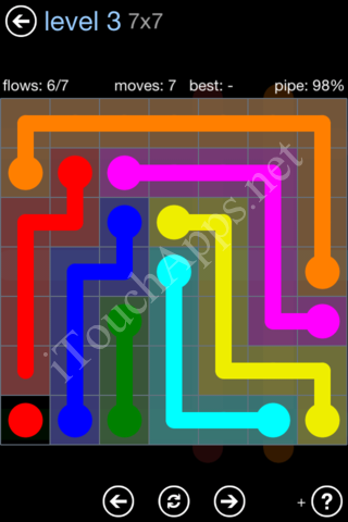 Flow Game Rainbow Pack Level 3 Solution