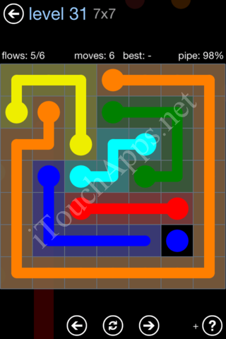 Flow Game Rainbow Pack Level 31 Solution