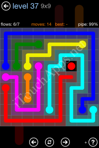 Flow Game Rainbow Pack Level 37 Solution