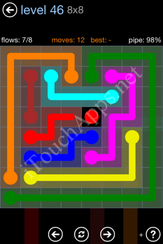 Flow Game Rainbow Pack Level 46 Solution