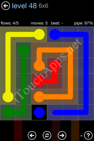 Flow Game Rainbow Pack Level 48 Solution