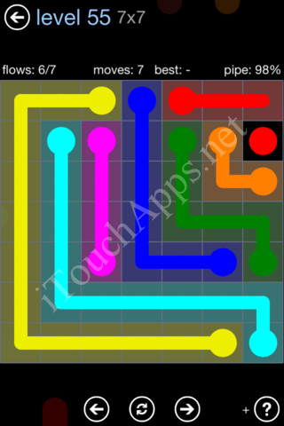 Flow Game Rainbow Pack Level 55 Solution