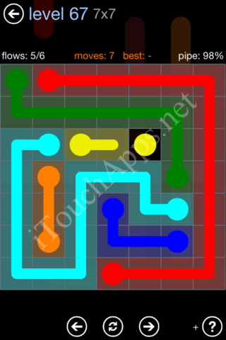 Flow Game Rainbow Pack Level 67 Solution