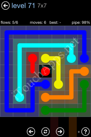 Flow Game Rainbow Pack Level 71 Solution