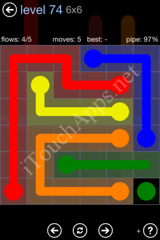 Flow Game Rainbow Pack Level 74 Solution