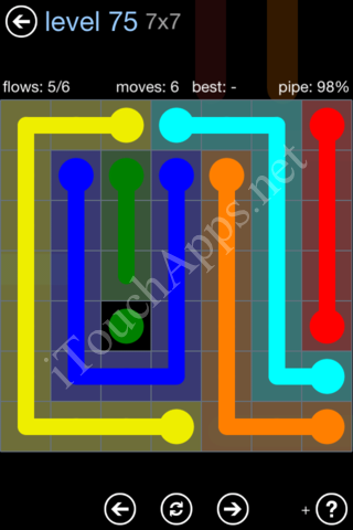 Flow Game Rainbow Pack Level 75 Solution
