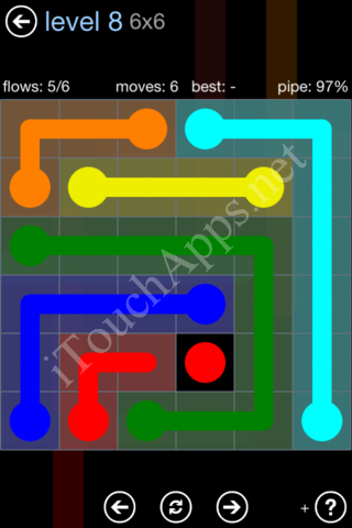 Flow Game Rainbow Pack Level 8 Solution