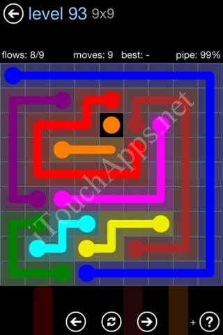 Flow Game Rainbow Pack Level 93 Solution