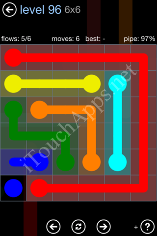 Flow Game Rainbow Pack Level 96 Solution