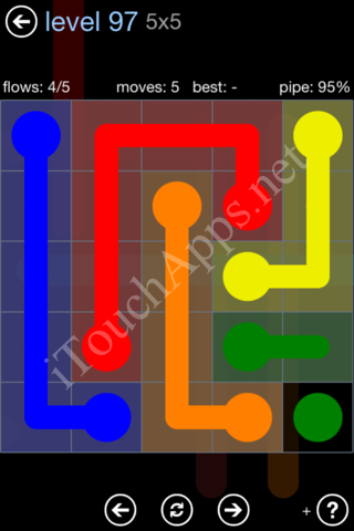 Flow Game Rainbow Pack Level 97 Solution